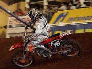 Foto: Rodrigo Selhorst ' piloto da categoria SX2 no Campeonato Brasileiro de Supercross