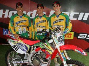 Foto: Team Honda representa o Brasil no Motocross das Nações 2008