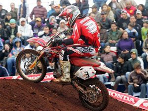 Foto: Rodrigo Lama defende o Team Honda na categoria 85cc no Arena Cross