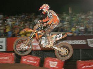 Foto: Swian Zanoni ' piloto da categoria SX2 no Campeonato Brasileiro de Supercross