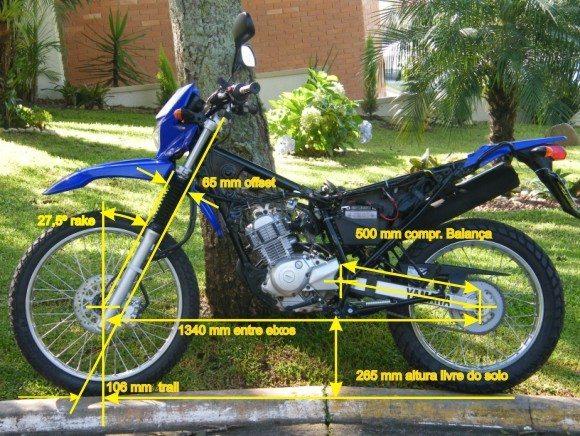 A Yamaha XTZ 125 tem geometria propria para off-road