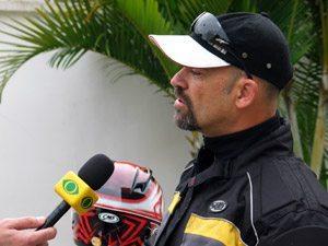 Foto: Tite dar entrevista bombstica