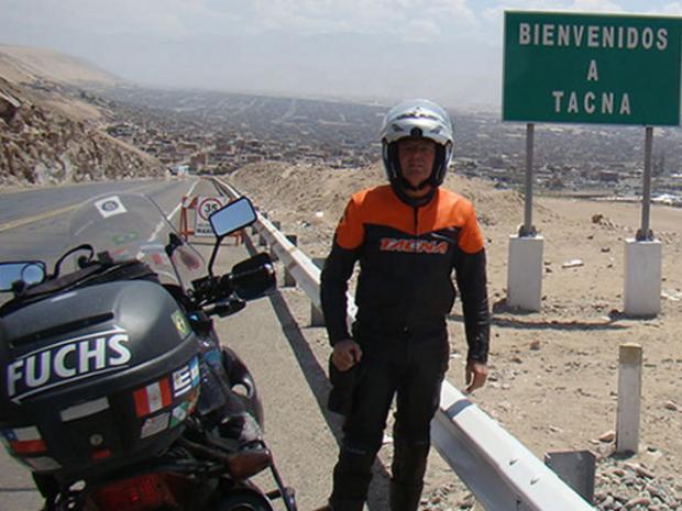 Cézar Fuchs em Tacna, no Peru