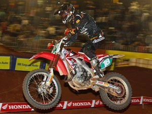 Foto: Jean Ramos, piloto da categoria Pro do Team Honda no Arena Cross