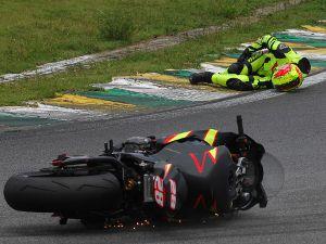 Zandavalli acidentou-se na quinta volta da corrida em Interlagos