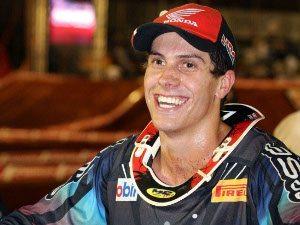 Swian Zanoni, piloto da Equipe Oficial Honda na categoria Pró do Arena Cross