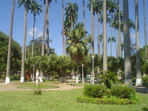Paraíjba do Sul (RJ). Praça Jardim Velho, onde será realizado o evento de motociclistas.