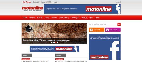 Novo site do Motonline