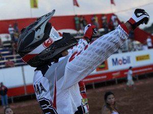 Rafael Faria, vencedor da primeira bateria da MX2