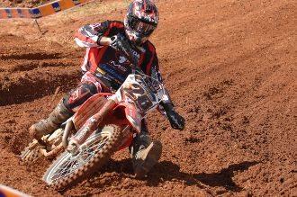 Cristiano Lopes, piloto satélite Honda da categoria MX3 na Superliga Brasil de Motocross