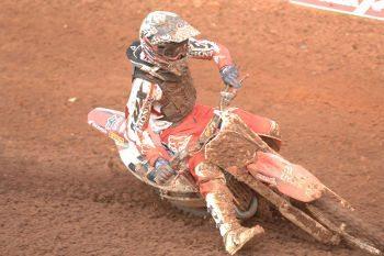 Hector Assunção, piloto satélite Honda da categoria MX2 na Superliga Brasil de Motocross.