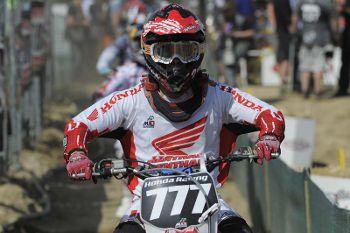 Swian Zanoni, piloto da Equipe Honda Mobil no Mundial de MX.