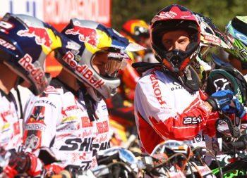 Jean Ramos, piloto da categoria MX2 no Honda GP Brasil de Motocross 2011, em Indaiatuba (SP)
