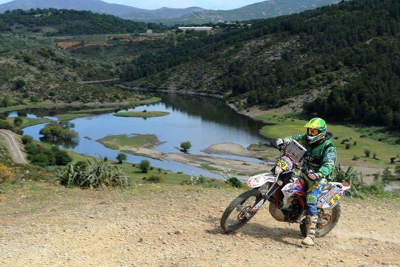 Vicente De Benedictis na terceira etapa do Rally da Sardenha