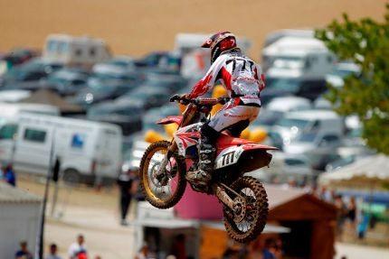 Swian Zanoni, piloto da Equipe Honda Mobil no Mundial de Motocross
