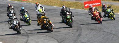 Largada da categoria 600 Hornet no Racing Festival