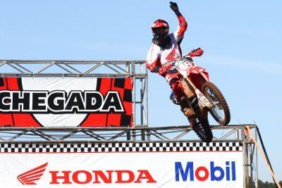 Jean Ramos, piloto da Equipe Honda Mobil da categoria MX2 na Superliga Brasil de Motocross