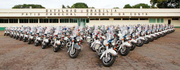 Modelos Road King Police das Forças Armadas se preparam para a posse da Presidente Dilma Rousseff