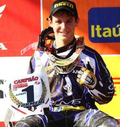 Thiago Formehl, piloto da categoria Júnior na Superliga Brasil de Motocross