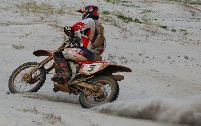 Dário Júlio, piloto da Equipe Honda Mobil de Enduro de Regularidade