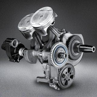 Motor com tecnologia derivada da R1, tem o virabrequim cross plane em 270º