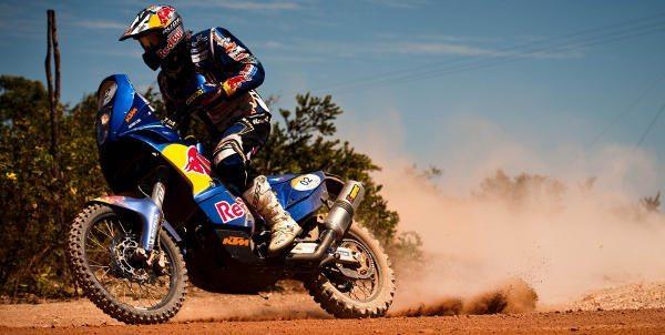 Cyril Despres controla moto