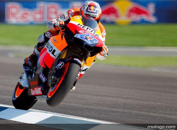 Stoner garantiu a pole para o Red Bull Grande Prémio de Indianapolis com meio segundo de margem sobre Spies.