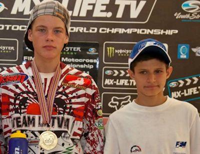 Os campeões mundiais Pauls Jonass e Jorge Prado Garcia