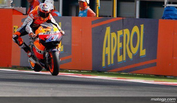 O piloto da Repsol Honda vai partir para o Grande Prémio Aperol de São Marino e da Riviera de Rimini da primeira posição da grelha no domingo depois de ter batido o seu próprio recorde do traçado assinado em 2008.