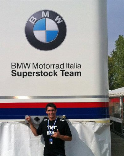 Danilo no Grande Prêmio de Ímola da categoria Superstock 1000 do Mundial de Superbike