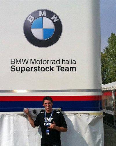 Danilo no Grande Prêmio de Ímola da categoria Superstock 1000 do Mundial de Superbike