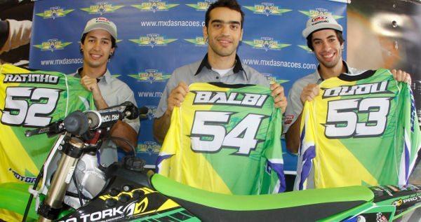 Ratinho, Balbi e Dudu representam o Brasil no Motocross das Nações 2011