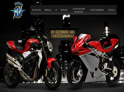 Homepage do novo site da MV Agusta