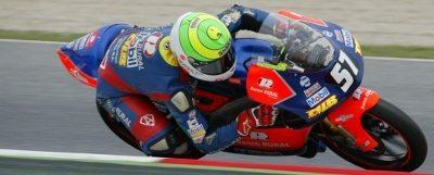 Eric tornou-se o primeiro brasileiro a pontuar no campeonato europeu de motoveocidade categoria 125GP