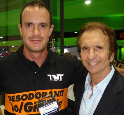 Bruno Corano e Emerson Fittipaldi