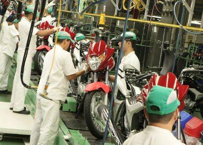 Produção de motos recua em Julho