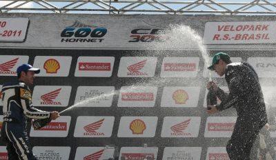 Pódio da categoria 600 Hornet no Racing Festival