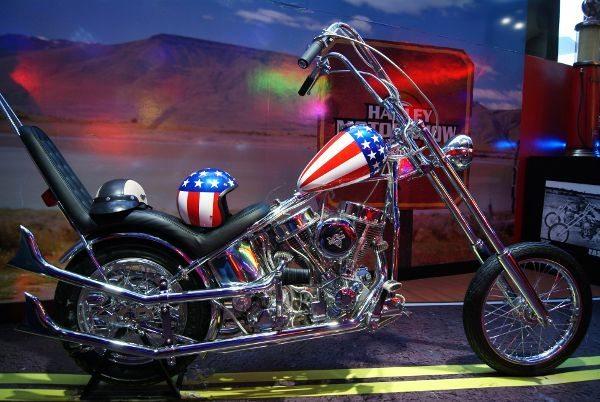 Panhead Easy Rider motor 1.200cc e 75cv é um dos destaques do Harley Motor Show