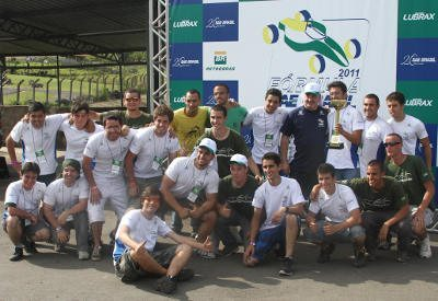 A equipe campeã: quinto título para a FEI
