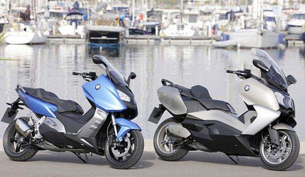BMWC600 Sport e C 650GT1 Dois scooters da BMW