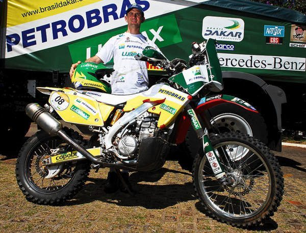 Denísio do Nascimento pronto para a largada do Rally Dakar