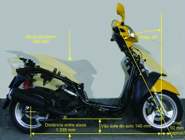 A kasinski prima 150 tem uma estatura maior e por isso tem ciclística melhor