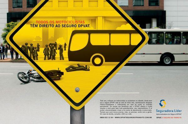 Campanha publicitária do DPVAT veiculada no final de 2011