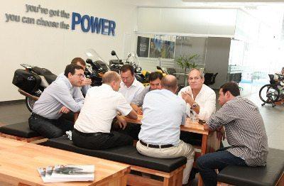 O presidente mundial da BMW Motorrad na Power
