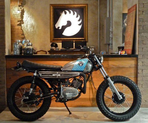 A Yamaha de 1975 renasce: desenho único e total personalização