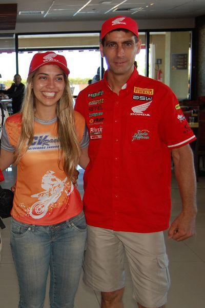 Sabrina e Sandro: a dupla oficial da Honda preparada para o Rally Cerapió 2012