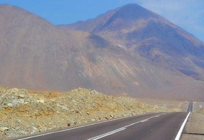 A vastidão da Ruta 5, no Chile