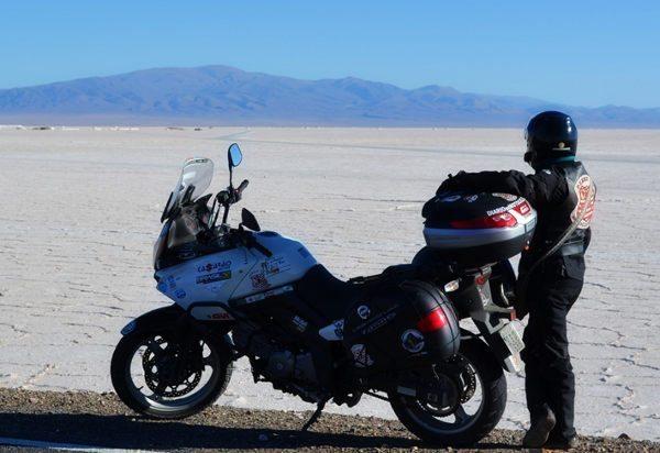 As planícies de sal de Salar Grande. Ruta 52, Argentina