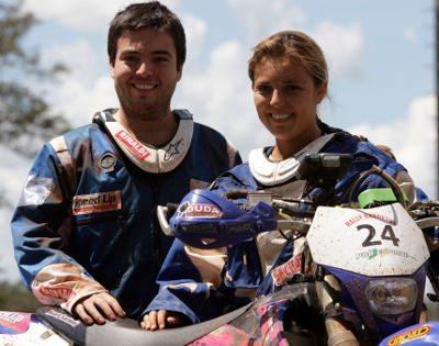 Os irmãos Ramon e Moara Sacilotti