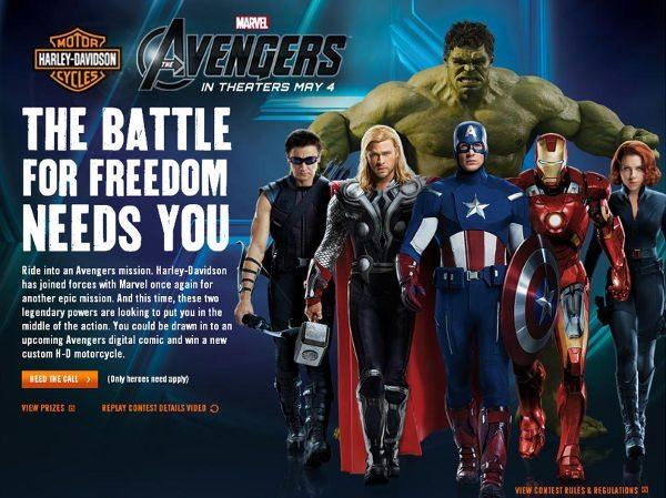 Os Vingadores e Harley-Davidson: uma equipe de Aço, principalmente para o Homem de Ferro